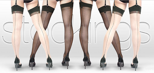 Lascivious stockings suspenders