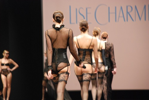 Lise Charmel 35 years at the salon de la lingerie 2011
